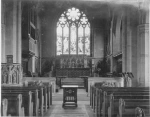 Nave & Chancel before 1913, showing Pulpit