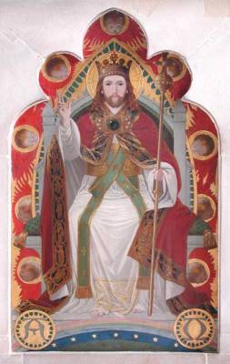 Chancel Reredos with Christ the King